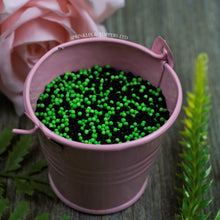 Load image into Gallery viewer, Black & Green 100s & 1000s  These ever popular small sugar balls are perfect to top any cupcake, large cake, ice cream, shake and more...