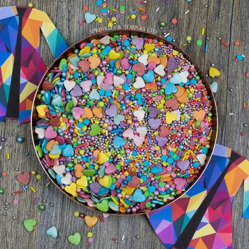 We have created the perfect Joseph And The Amazing Technicolor Dreamcoat themed sprinkles mix just for you!!  Perfect to top any cupcake or to decorate a larger cake, ice creams, smoothies, cookies and more