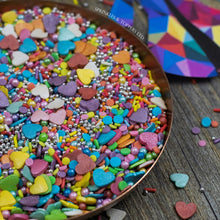 Load image into Gallery viewer, We have created the perfect Joseph And The Amazing Technicolor Dreamcoat themed sprinkles mix just for you!!  Perfect to top any cupcake or to decorate a larger cake, ice creams, smoothies, cookies and more