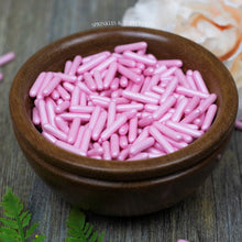 Load image into Gallery viewer, Pink Pearlescent Macaroni Rods (20mm) Sprinkles