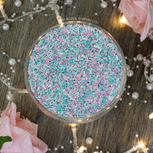 Load image into Gallery viewer, Pink, White & Turquoise Glimmer Strands
