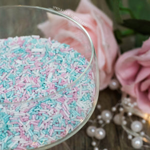 Pink, White & Turquoise Glimmer Strands