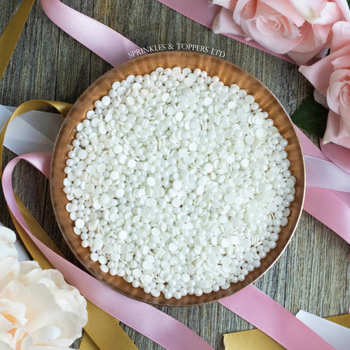 White Confetti & Pearls Sprinkles Mix
