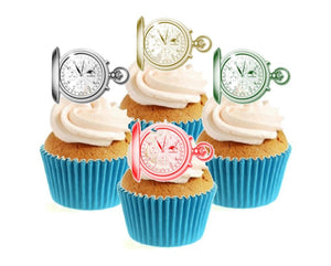 Pocket Watch Collection Stand Up Cake Toppers (12 pack)