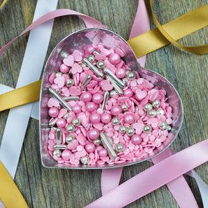 Pink Champagne Sprinkles Mix Cupcake / Cake Decorations Sprinkles