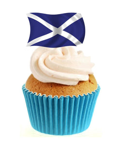 Scottish Flag Stand Up Cake Toppers (12 pack)