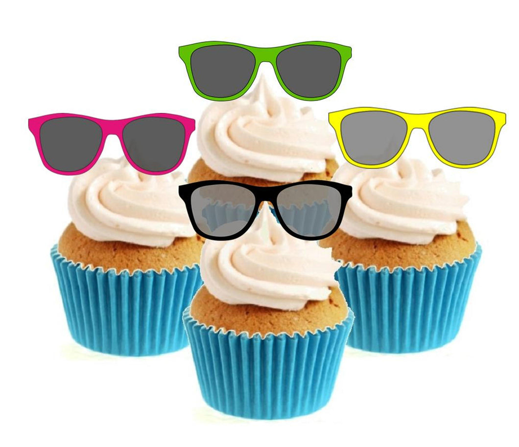 Sunglasses Collection Stand Up Cake Toppers (12 pack)