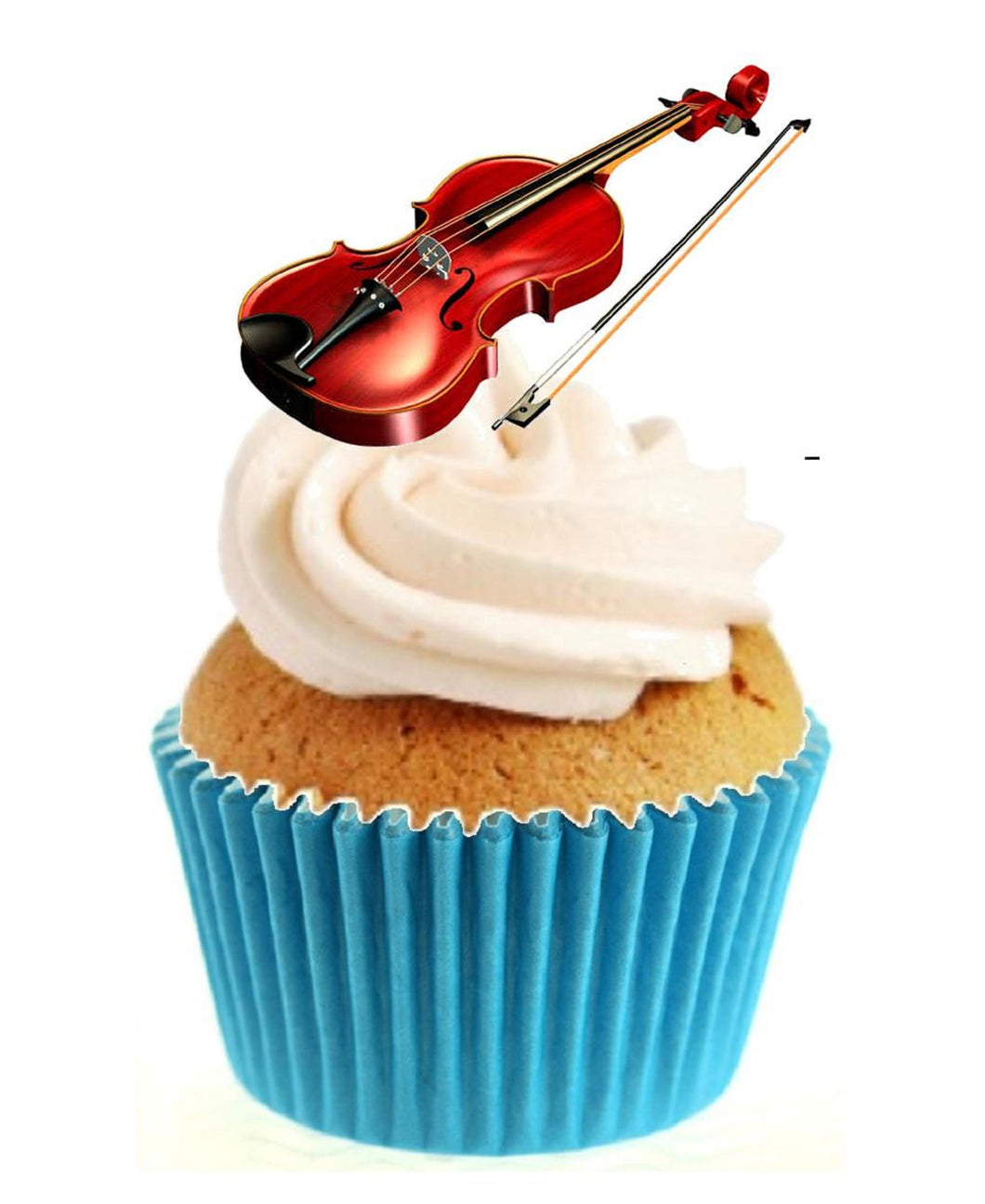 Violin Stand Up Cake Toppers (12 pack)