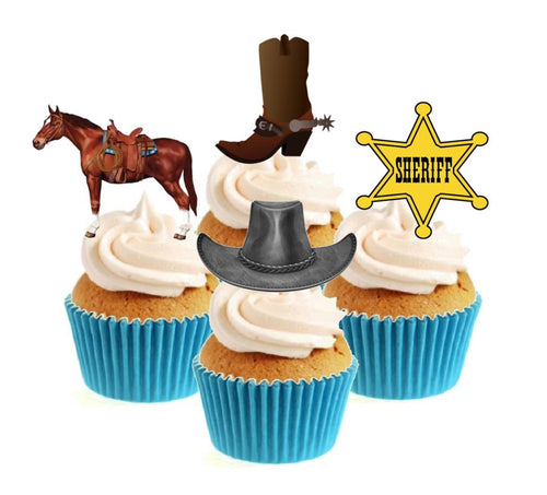 Wild West Collection Stand Up Cake Toppers (12 pack)