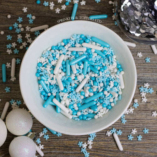 Baby It's Cold Outside Sprinkles Mix Cupcake / Cake Decorations