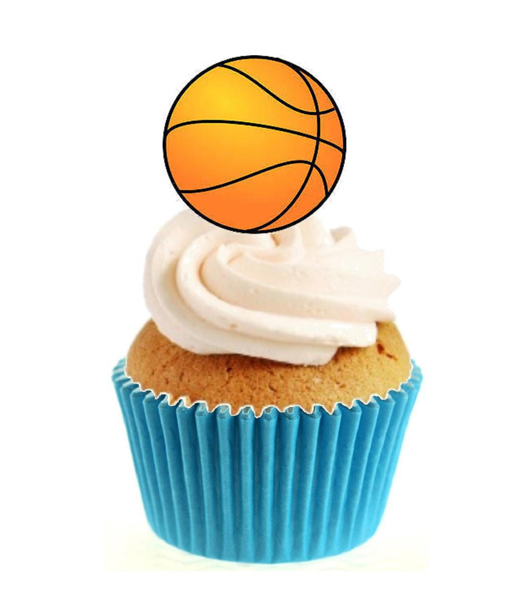 Basketball Stand Up Cake Toppers (12 pack)  Pack contains 12 images printed onto premium wafer card