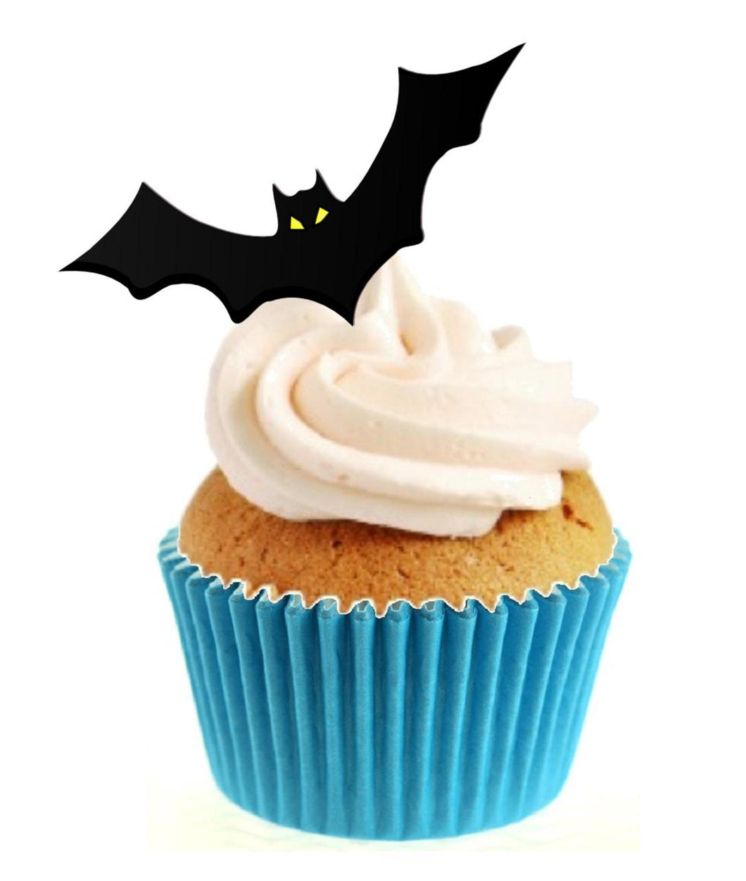 Bat Silhouette Stand Up Cake Toppers (12 pack)  Pack contains 12 images printed onto premium wafer card