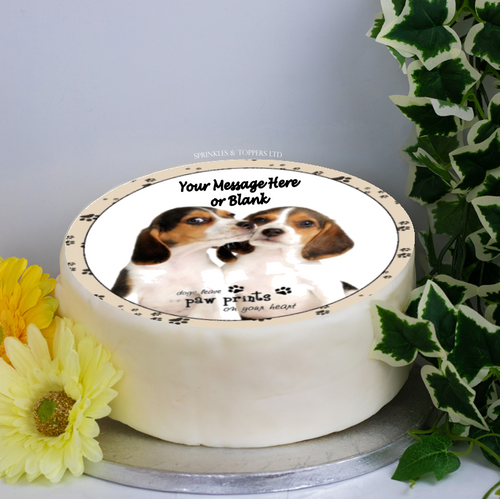 Personalised Beagle Dogs Scene 8
