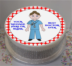 "Personalised Best Dr Ever 8"" Icing Sheet Cake Topper"