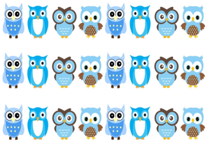 BLUE OWLS EDIBLE ICING CAKE RIBBON / SIDE STRIPS   Use instead of traditional ribbon to decorate the sides of your cakes