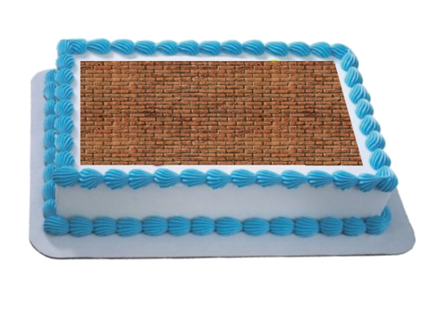 Brick Wall Effect A4 Themed Icing Sheet  Icing sheet cake toppers are a great way to decorate any themed cake  Easy Peel Icing Sheet - No Fuss - Ready to pop straight onto your cake (full instructions included)