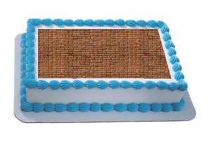 Brick Wall Effect A4 Themed Icing Sheet
