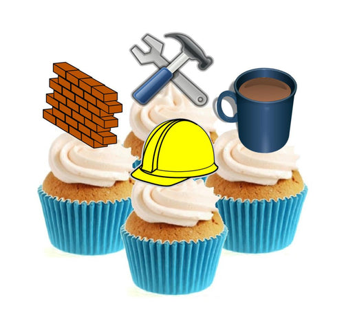 Builder / DIY Collection Stand Up Cake Toppers (12 pack)