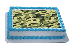 Camouflage Effect A4 Themed Icing Sheet