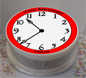 "Personalised Clock 8"" Icing Sheet Cake Topper"