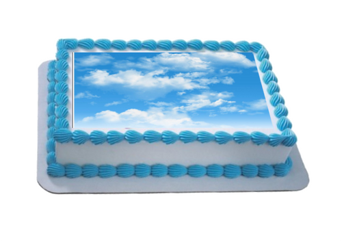 Clouds A4 Themed Icing Sheet  Icing sheet cake toppers are a great way to decorate any themed cake