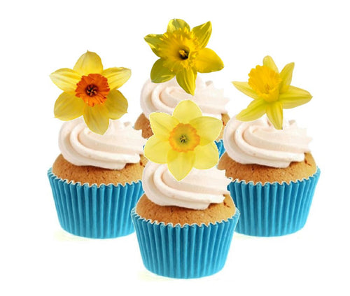 Daffodil Collection Stand Up Cake Toppers (12 pack)
