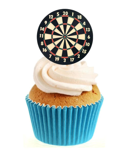Dart Board Stand Up Cake Toppers (12 pack)
