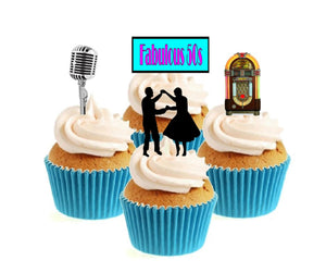 Fabulous 50's Collection Stand Up Cake Toppers (12 pack)