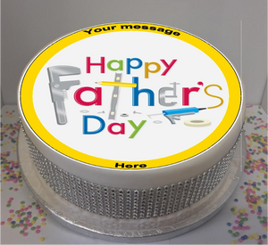 "Personalised DIY Fathers Day 8"" Icing Sheet Cake Topper"