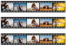Load image into Gallery viewer, Personalised Photo Film Strip Edible Icing Cake Ribbon / Side Strips