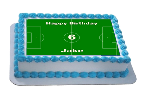 Personalised Football Pitch A4 Icing Sheet Topper