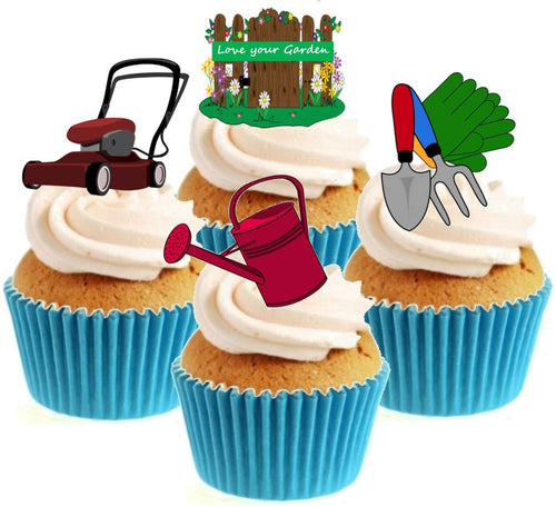 Gardening Collection Stand Up Cake Toppers (12 pack)