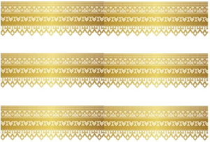 GOLD TRIM EDIBLE ICING CAKE RIBBON / SIDE STRIPS  Use instead of traditional ribbon to decorate the sides of your cakes  Edible fondant icing, perfect for that special occasion