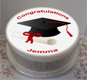 "Personalised Congratulations Graduate 8"" Icing Sheet Cake Topper"