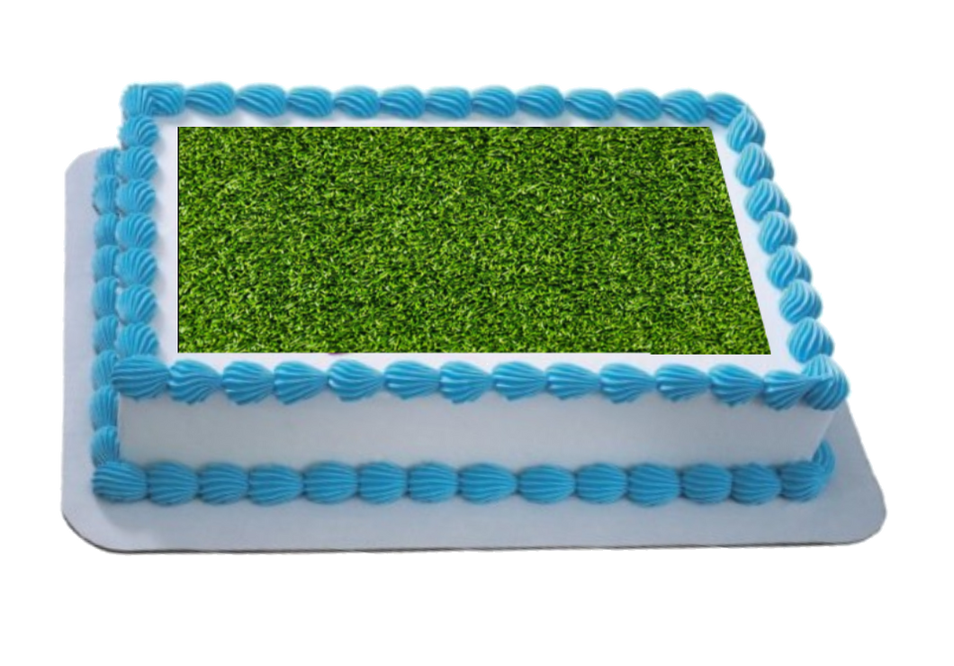 Grass A4 Themed Icing Sheet  Icing sheet cake toppers are a great way to decorate any themed cake