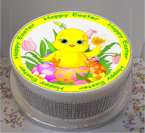"Cute Easter Chicks 8"" Icing Sheet Cake Topper"