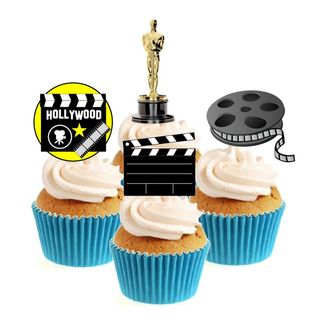 Hollywood Movie Collection Stand Up Cake Toppers (12 pack)