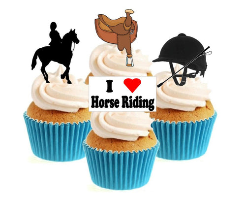 Horse Riding Collection Stand Up Cake Toppers (12 pack)