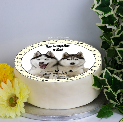 Personalised Husky Dogs Scene 8