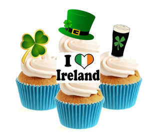 I Love Ireland Collection Stand Up Cake Toppers (12 pack)