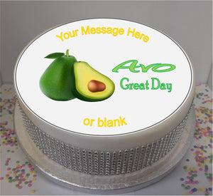 "Personalised Avo Great Day 8"" Icing Sheet Cake Topper"