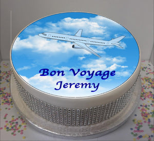 "Personalised Bon Voyage / Travelling 8"" Icing Sheet Cake Topper"