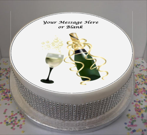 Personalised Champagne & Glass Scene 8