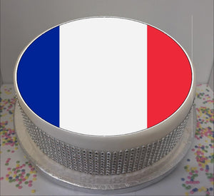 "Flag of France 8"" Icing Sheet Cake Topper   Icing sheet cake toppers are a great way to personalise either a homemade or shop bought plain cake  Easy Peel Icing Sheet - No Fuss - Ready to pop straight onto your cake (full instructions included)"