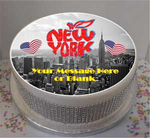 "Personalised New York Scene 8"" Icing Sheet Cake Topper"