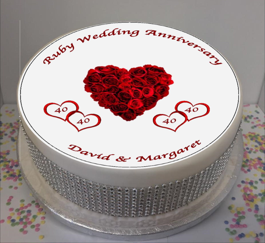 Personalised Ruby Wedding Anniversary 8