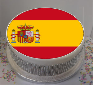 "Flag of Spain 8"" Icing Sheet Cake Topper"
