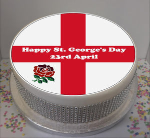 "St George's Day 8"" Icing Sheet Cake Topper"