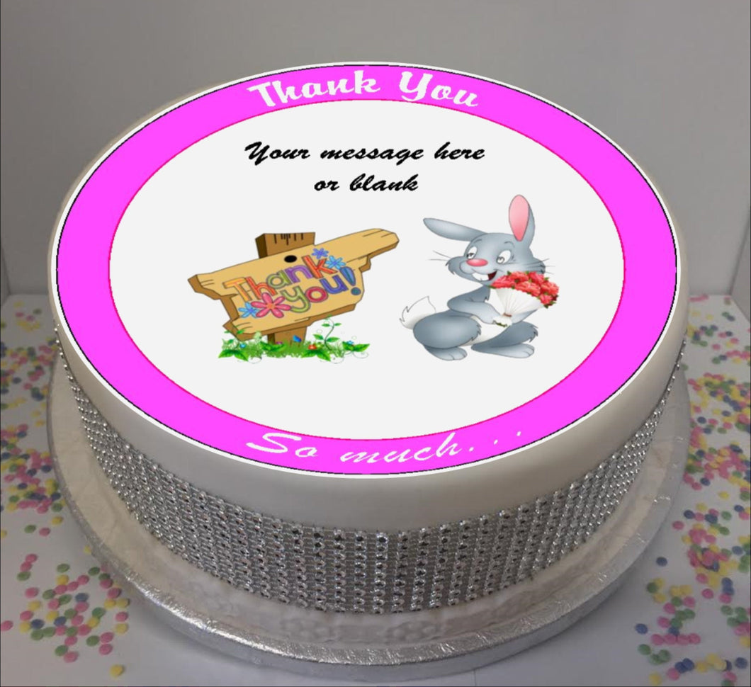 Personalised Thank You Bunny Scene 8