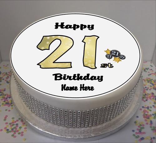 Personalised 21st Birthday Black / Gold 8